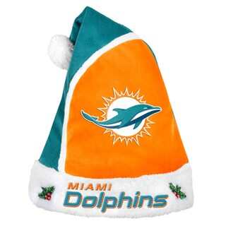 Forever Collectibles Miami Dolphins 2015 NFL Polyester Santa Hat