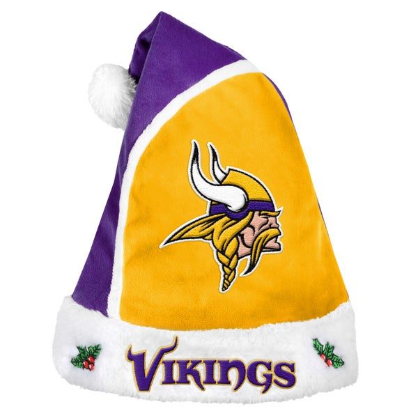 Forever Collectibles Minnesota Vikings 2015 NFL Polyester Santa Hat