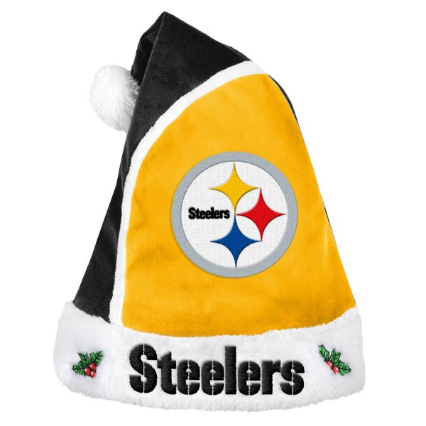 Forever Collectibles Pittsburgh Steelers 2015 NFL Polyester Santa Hat