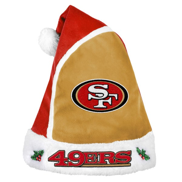 Forever Collectibles San Francisco 49ers 2015 NFL Polyester Santa Hat