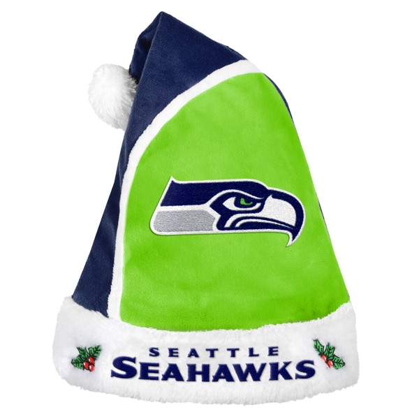 Forever Collectibles Seattle Seahawks 2015 NFL Polyester Santa Hat