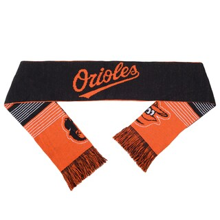 Forever Collectibles MLB Baltimore Orioles Split Logo Reversible Scarf