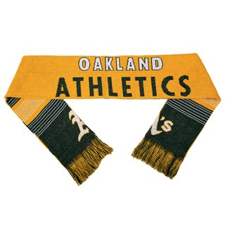 Forever Collectibles MLB Oakland Athletics Split Logo Reversible Scarf