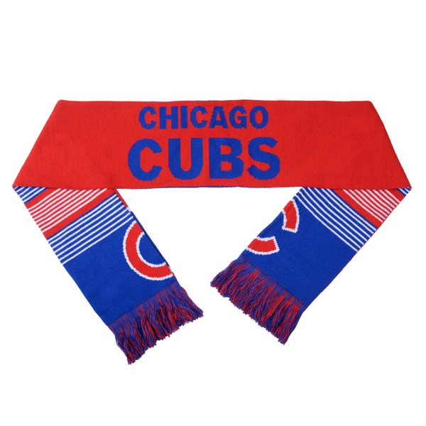 Forever Collectibles MLB Chicago Cubs Split Logo Reversible Scarf