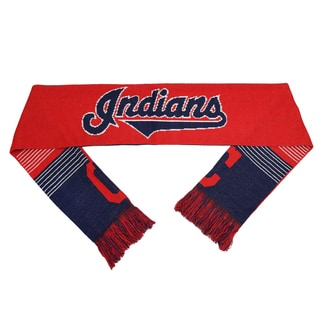 Forever Collectibles MLB Cleveland Indians Split Logo Reversible Scarf