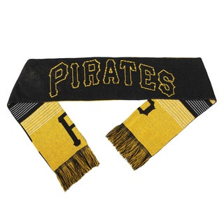 Forever Collectibles MLB Pittsburgh Pirates Split Logo Reversible Scarf