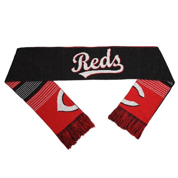 Forever Collectibles MLB Cincinnati Reds Split Logo Reversible Scarf