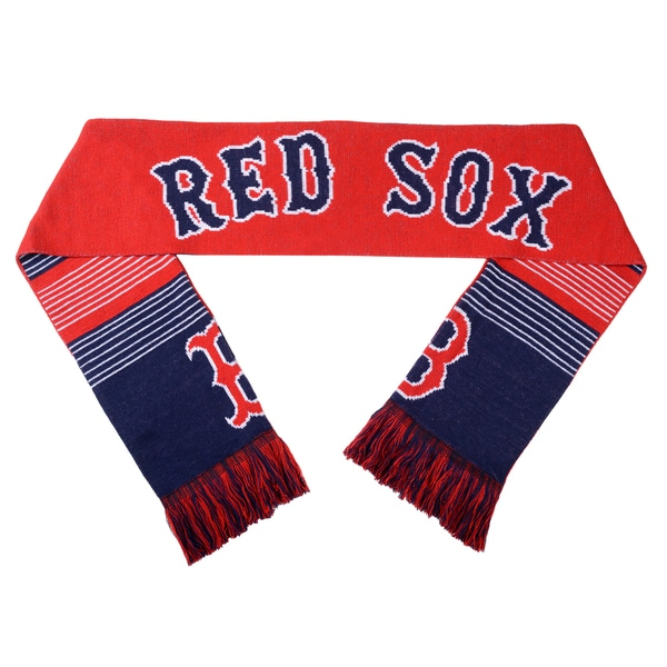 Forever Collectibles MLB Boston Red Sox Split Logo Reversible Scarf