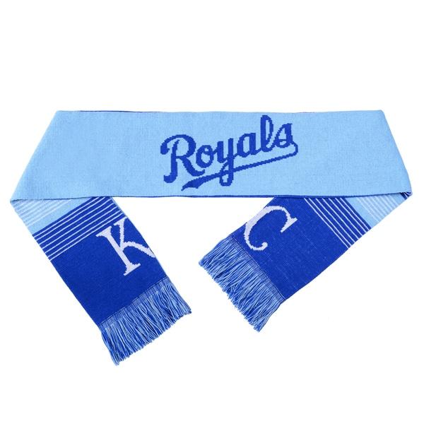 Forever Collectibles MLB Kansas City Royals Split Logo Reversible Scarf