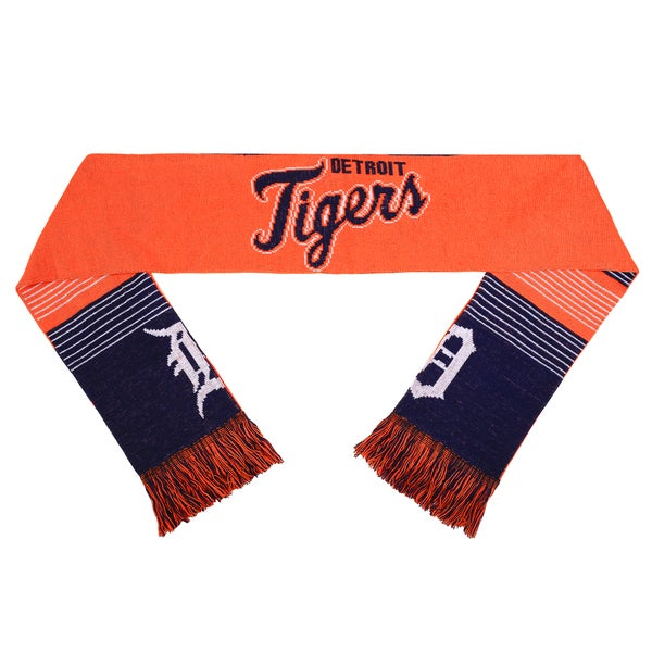 Forever Collectibles MLB Detroit Tigers Split Logo Reversible Scarf