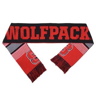NC State Wolfpack Split Logo Reversible Scarf