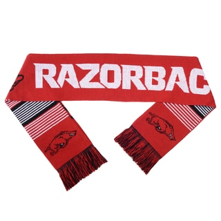 Arkansas Razorbacks Split Logo Reversible Scarf