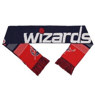 Forever Collectibles NBA Washington Wizards Split Logo Reversible Scarf