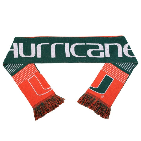 Miami Hurricanes Split Logo Reversible Scarf