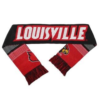 Louisville Cardinals Split Logo Reversible Scarf