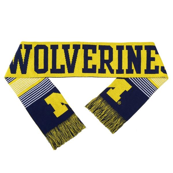 Michigan Wolverines Split Logo Reversible Scarf