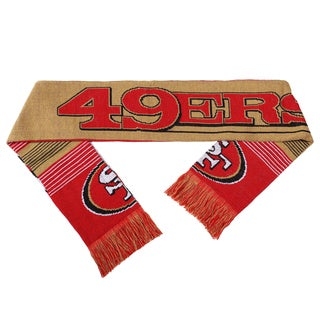 Forever Collectibles NFL San Francisco 49ers Split Logo Reversible Scarf