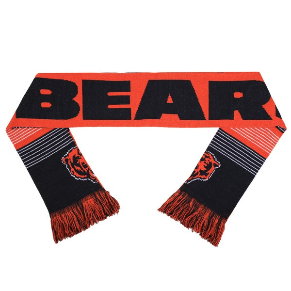 Forever Collectibles NFL Chicago Bears Split Logo Reversible Scarf