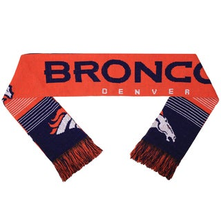 Forever Collectibles NFL Denver Broncos Split Logo Reversible Scarf