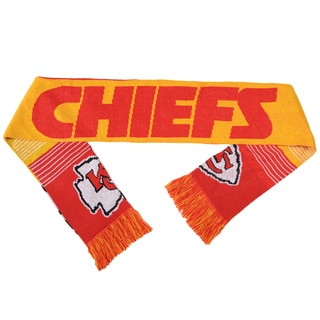 Forever Collectibles NFL Kansas City Chiefs Split Logo Reversible Scarf