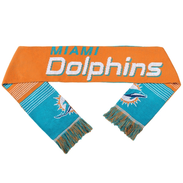 Forever Collectibles NFL Miami Dolphins Split Logo Reversible Scarf
