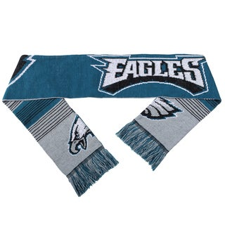 Forever Collectibles NFL Philadelphia Eagles Split Logo Reversible Scarf