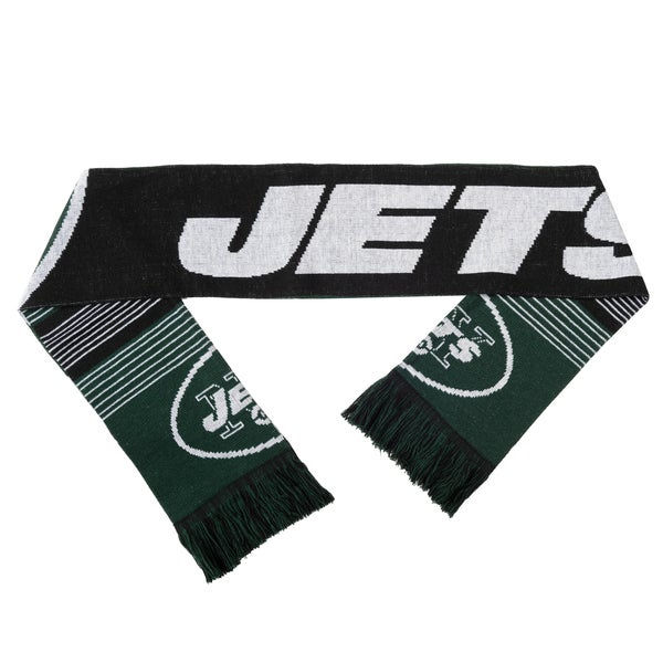 Forever Collectibles NFL New York Jets Split Logo Reversible Scarf