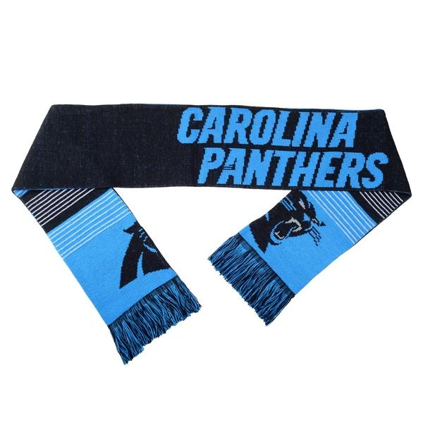 Forever Collectibles NFL Carolina Panthers Split Logo Reversible Scarf