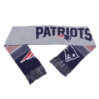 Forever Collectibles NFL New England Patriots Split Logo Reversible Scarf