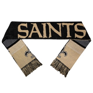 Forever Collectibles NFL New Orleans Saints Split Logo Reversible Scarf
