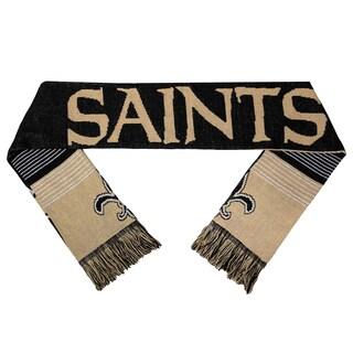 Forever Collectibles NFL New Orleans Saints Split Logo Reversible Scarf