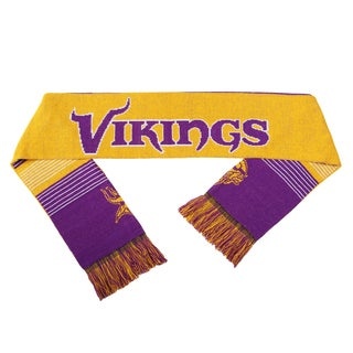 Forever Collectibles NFL Minnesota Vikings Split Logo Reversible Scarf