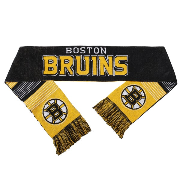 Forever Collectibles NHL Boston Bruins Split Logo Reversible Scarf