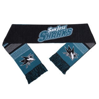 Forever Collectibles NHL San Jose Sharks Split Logo Reversible Scarf