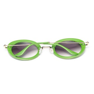 Round Sunglasses with Blue Lens 48MM