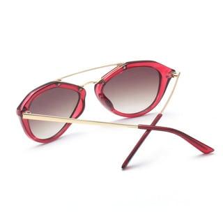 Round, Half Metal Arms Sunglasses 58MM