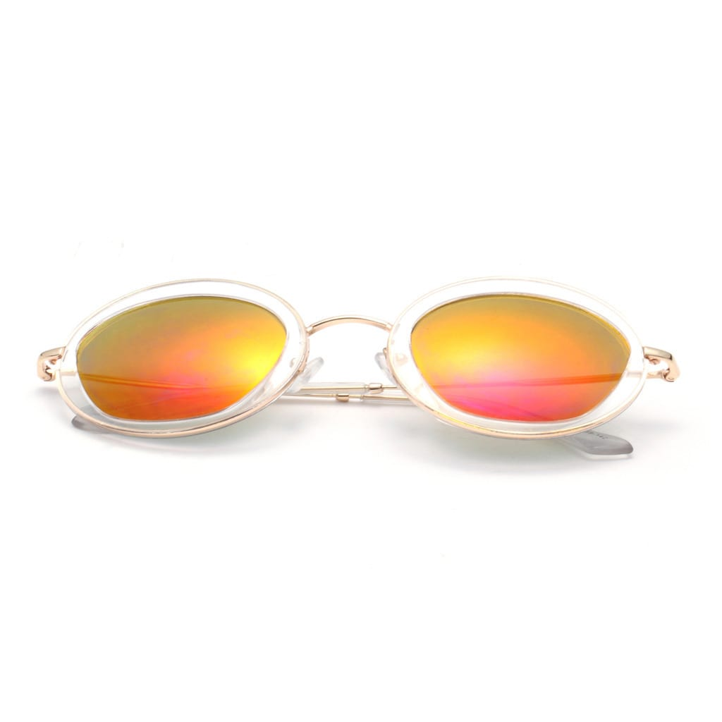 fc53fbf0cb5d5 Clear Round Sunglasses with Yellow Lens 50MM