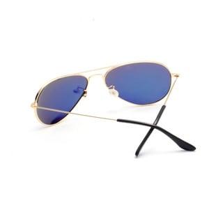 Aviator Sunglasses with Aqua Blue Tinted Lens 63MM