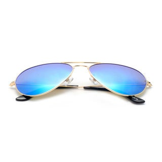 Aviator Sunglasses with Aqua Blue Tinted Lens 63MM