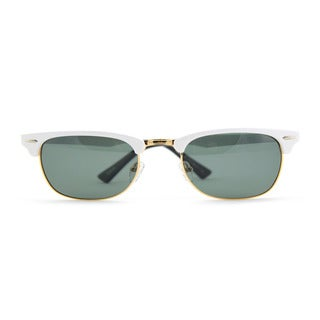 Half Metal Frame Sunglesses with Green Colored Lens 50M