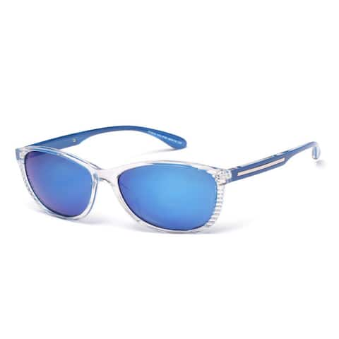 Round Sunglasses with Blue Colored Lens 58MM