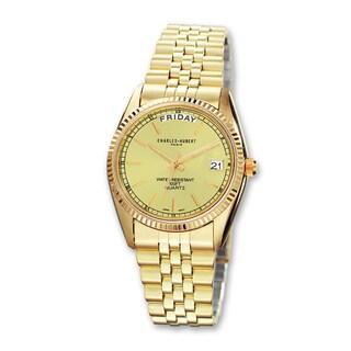 Versil Men's Charles Hubert IP-plated Champagne Dial Watch