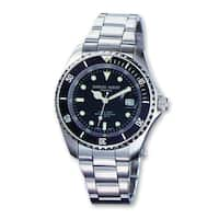 Versil Men's Charles Hubert Stainless Steel Black Dial with Date Watch