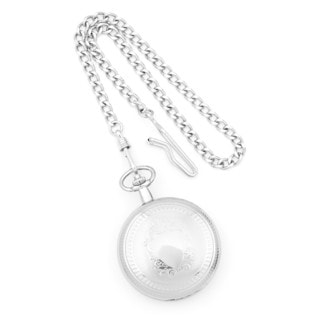 Versil Charles Hubert Chrome-finish White Dial Pocket Watch