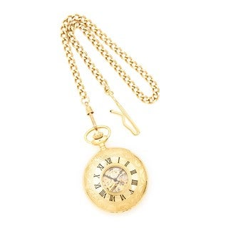 Versil Charles Hubert Gold Finish White Dial Pocket Watch