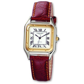 Link to Men's Charles Hubert Leather Band White Dial Retro 32mm Watch by Versil Similar Items in Men's Watches