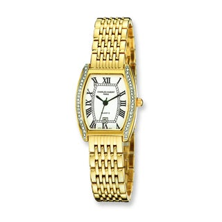 Versil Women's Charles Hubert Gold-finish Crystal Bezel 25mm Watch