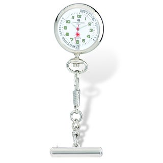 Versil Charles Hubert White Dial Nurse Watch w/Pin