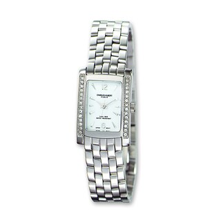 Versil Ladies Charles Hubert Solid Stainless Steel White Dial 20x25mm Watch