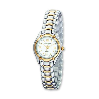 Versil Women's Charles Hubert Two-tone Brass White Dial Watch
